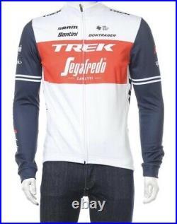 NEW 2021 Santini TREK SEGAFREDO Cycling Long Sleeve WHITE/RED Size XL
