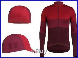 NEW BUNDLE Rapha Men Cycling Jersey + Cap L Classic Long Sleeve TriColour RCC