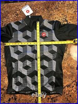 NEW Castelli CUBI Long Sleeve Cycling Jersey, Vortex Gray, Size X-Large
