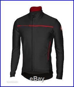 NEW Castelli PERFETTO LONG SLEEVE Wind/Rain Winter Cycling Jersey BLACK