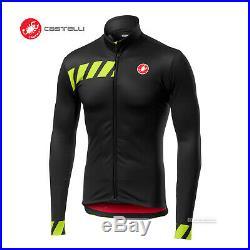 NEW Castelli PISA Thermal Long Sleeve Full Zip Cycling Jersey LIGHT BLACK