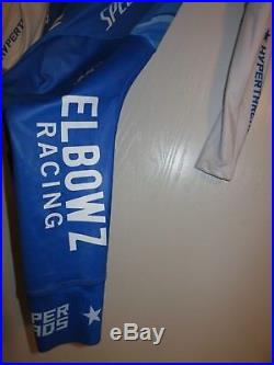 NEW ELBOWZ Racing Cycling Team Long Sleeve Aero Time Trial TT Skinsuit Medium M