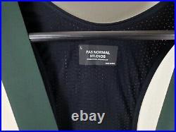 NEW Pas Normal Studios Long Thermal Bib Tights, Dark Green, Size Large NWT