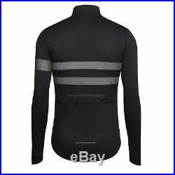 NEW Rapha Long Sleeve Brevet Jersey XL Black Cycling Reflective 3M Hi Viz Pro