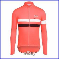 NEW Rapha Long Sleeve Brevet Jersey XXL CORAL Cycling RCC Hi Viz Reflective Pro