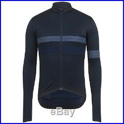NEW Rapha Men's Cycling Jersey Brevet Dark Navy Blue Long Sleeve M XS RCC Hi Vis