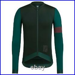 NEW Rapha Men's Cycling Jersey Pro Team Training XL Dark Green Long Sleeve RCC
