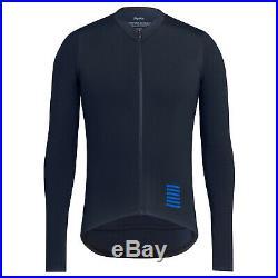 NEW Rapha Men's Cycling Pro Team Aero Jersey Navy Blue XXL Long Sleeves RCC