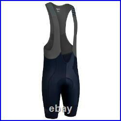 NEW Rapha Men's Pro Team Bib Shorts II L Cycling Long Leg Length Dark Navy Grey