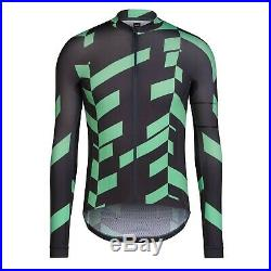 NEW Rapha Pro Team Jersey DATA PRINT XXL Black Green Cycling Long Sleeve