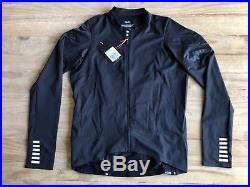 NEW Rapha Pro Team Midweight Long Sleeve Jersey Mens Large Black White RCC