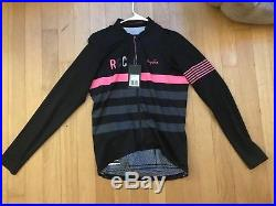 NEW with tags Rapha RCC Pro Team Long Sleeve Mid Weight Jersey Large LRG  Black f8fef855d