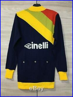 NOS Cinelli Vintage 80s Authentic Cycling Long Sleeve Jersey Maglia Trikot Rare