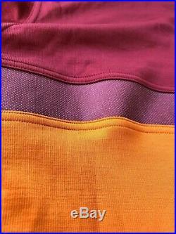 NWOT Rapha Long Sleeve Club Jersey M medium Orange Maroon wool