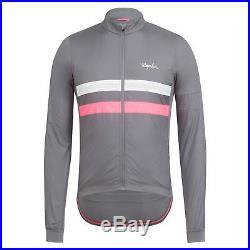 NWT Rapha Brevet Long Sleeve Windblock Jersey Merino LRG Cycling RCC Hi Vis
