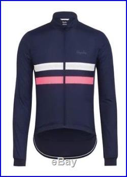 NWT Rapha Mens Long Sleeve Windblock Brevet Jersey Blue Cycling Size XL
