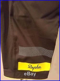New Rapha Brevet Bib Shorts II M Long Cycling RCC Pro Team Chartreuse Dark Grey