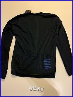 No Reserve! NEW Rapha Men's Cycling Jersey XL Pro Team Navy Long Sleeve Aero