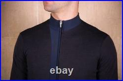 Origine Men's Long Sleeve Cycling Jersey in Dark Blue by Santini Size L