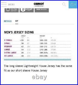Ornot Lightweight House Long sleeve Jersey Sz Medium Mens