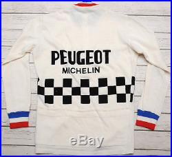 PEUGEOT MICHELIN WOOL vintage long sleeve WHITE L'EROICA SWEATER JERSEY 3