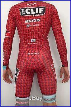 Pro Mens Capo Cycling Suit Long Sleeve Jersey skinsuit speedsuit Cliff Bar
