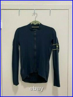 Pro team long sleeve thermal jersey navy small