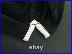 RAPHA Black Long Sleeve Merino Polo Shirt With Pink Gingham Trim Size LARGE