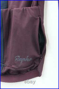 RAPHA Ladies Burgundy Long Sleeve Souplesse Thermal Cycling Jersey 2XS BNWT