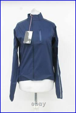 RAPHA Ladies Dark Navy Blue Classic Wind II Long Sleeve Cycling Jacket M BNWT