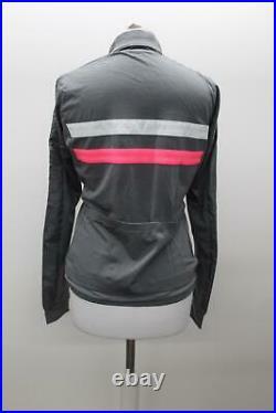 RAPHA Ladies Grey Wool Blend Brevet Long Sleeve Windblock Cycling Jersey M BNWT
