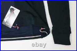 RAPHA Ladies Navy Blue Yellow Brevet Long Sleeve Cycling Jersey Size S BNWT