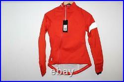 RAPHA Ladies Orange Long Sleeve Collared Zip Cycling Rain Jacket XXS BNWT