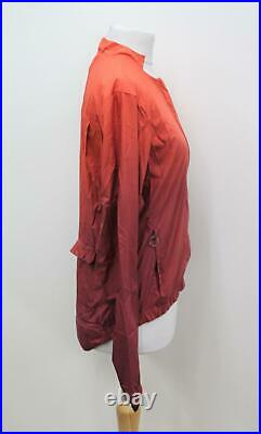 RAPHA Ladies Orange Long Sleeve Dip Dyed Cycling Bomber Jacket Size S NEW