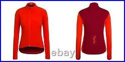 RAPHA Ladies Orange Red Collared Long Sleeve Souplesse Cycling Jacket XL BNWT