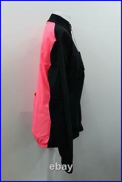 RAPHA Ladies black/Hi-Vis Pink Long Sleeve Zip-Up Souplesse Jacket XL BNWT