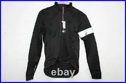 RAPHA Men Black Long Sleeve Collared Cycling Zip Winter Jersey Top XS NEW
