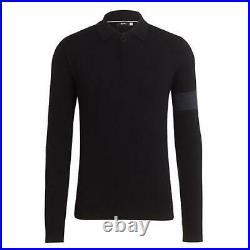 RAPHA Men's Black Merino Wool Long Sleeve Cycling Polo Shirt Size S BNWT