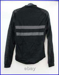 RAPHA Men's Black Reflective Long Sleeve Brevet Windblock Cycling Jersey XS NEW