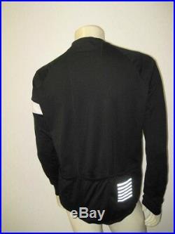 RAPHA Men's Black / White PRO TEAM LONG SLEEVE JERSEY Size XXL XX-LARGE