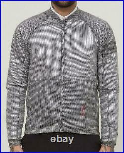 RAPHA Men's Black White Printed Lines Long Sleeve Pack Cycling Jacket XL BNWT