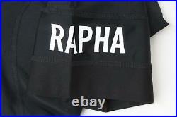 RAPHA Men's Black White Pro Team Lightweight Cycling Bib Shorts XS Long BNWT