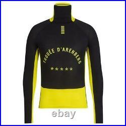 RAPHA Men's Black Yellow Long Sleeve Pro Team Thermal Cycling Base Layer XS BNWT