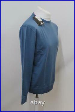 RAPHA Men's Blue Grey Wool Long Sleeve Crew Neck Knit Cycling Pullover XL BNWT