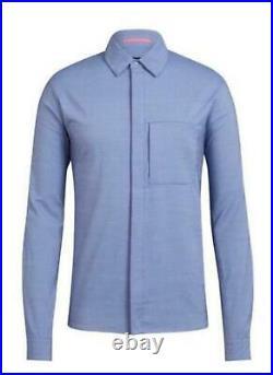 RAPHA Men's Blue Long Sleeves Merino Oxford Cycling Breathable Shirt XS BNWT