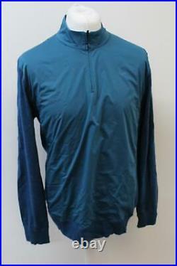 RAPHA Men's Blue Merino Wool Long Sleeve Collared Cycling Zip Jersey XL BNWT