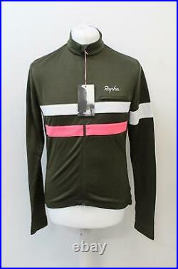 RAPHA Men's Brevet Long Sleeve Cycling Jersey Dark Green L NEW BNWT RRP140
