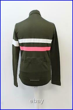 RAPHA Men's Brevet Long Sleeve Wool Blend Cycling Jersey Green L BNWT RRP140