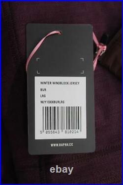 RAPHA Men's Burgundy Purple Long Sleeve Winter Wind Block Cycling Jersey L BNWT