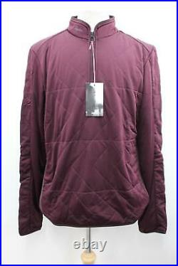 RAPHA Men's Burgundy Red Long Sleeve Insulated Cycling Sweatshirt XXL BNWT